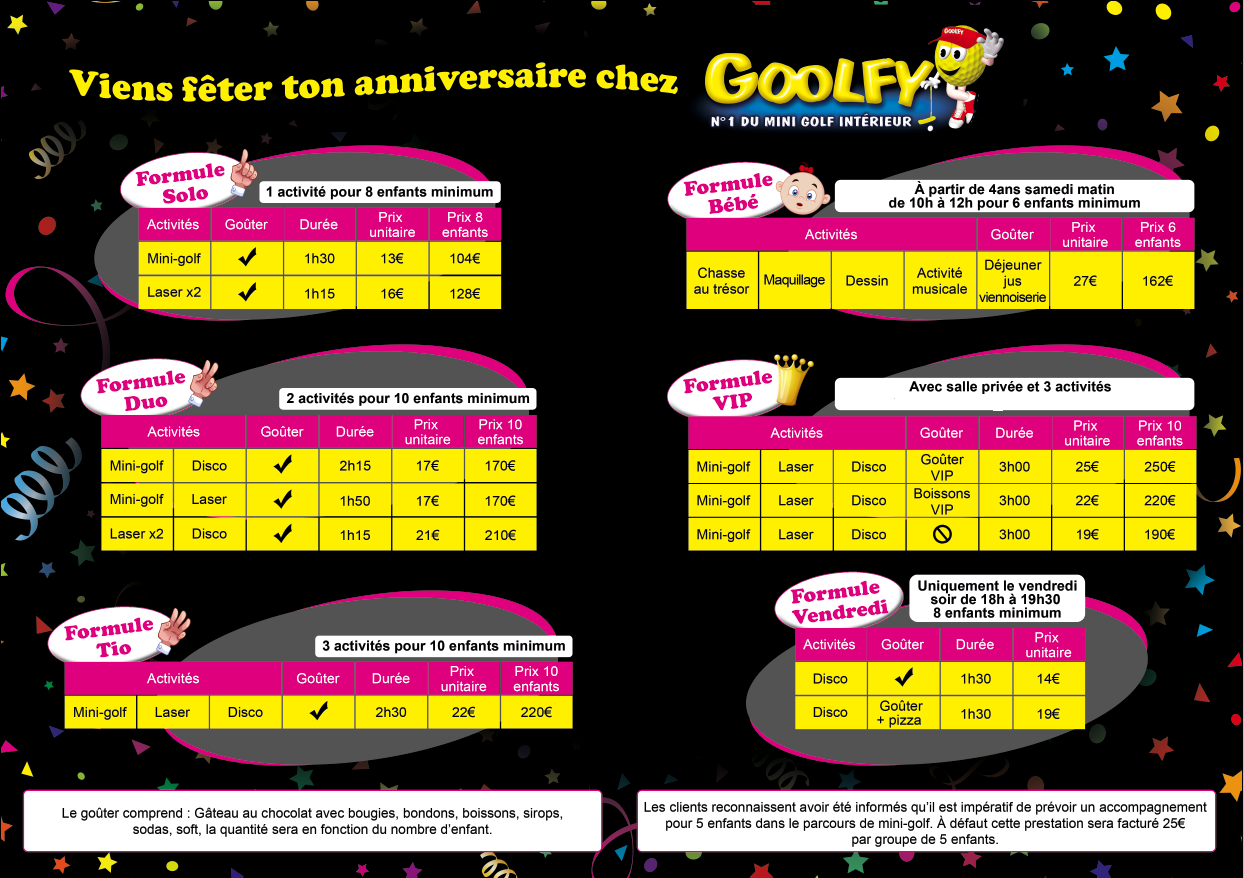 goolfy plan de campagne anniversaire. Black Bedroom Furniture Sets. Home Design Ideas